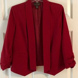 Deep Red Blazer
